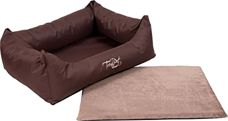 trendpet viscado 80 cm marrón - Cama para perros con viscoelastischer Colchón Reversible: Amazon.es: Productos para mascotas