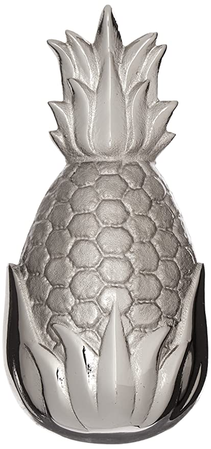 Merveilleux Hospitality Pineapple Door Knocker   Nickel Silver (Standard Size)