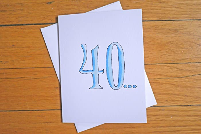 Amazon funny birthday card 40 is the old 39 over the hill funny birthday card 40 is the old 39 over the hill 40th birthday m4hsunfo