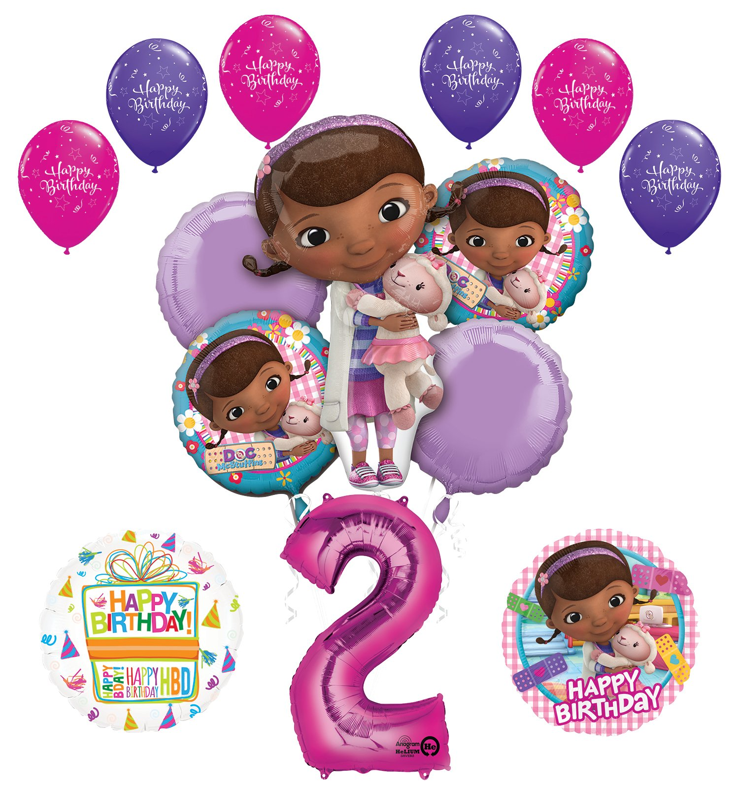Doc McStuffins 2nd Birthday Party Supplies And Balloon