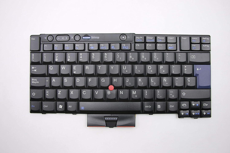 Tellus Remarketing Compatible Lenovo T410 T410i T510 T510i W510 X220 X220i T420 T420i T520 T520i W520 Spanish Keyboard