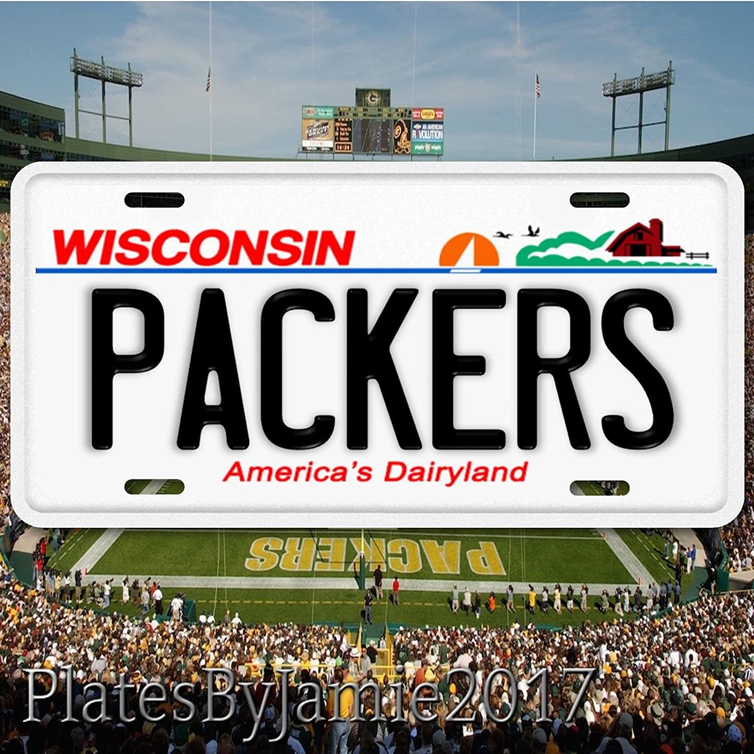 NFL Football Team Sports Green Bay Packers Aluminum License Plate Auto Tag