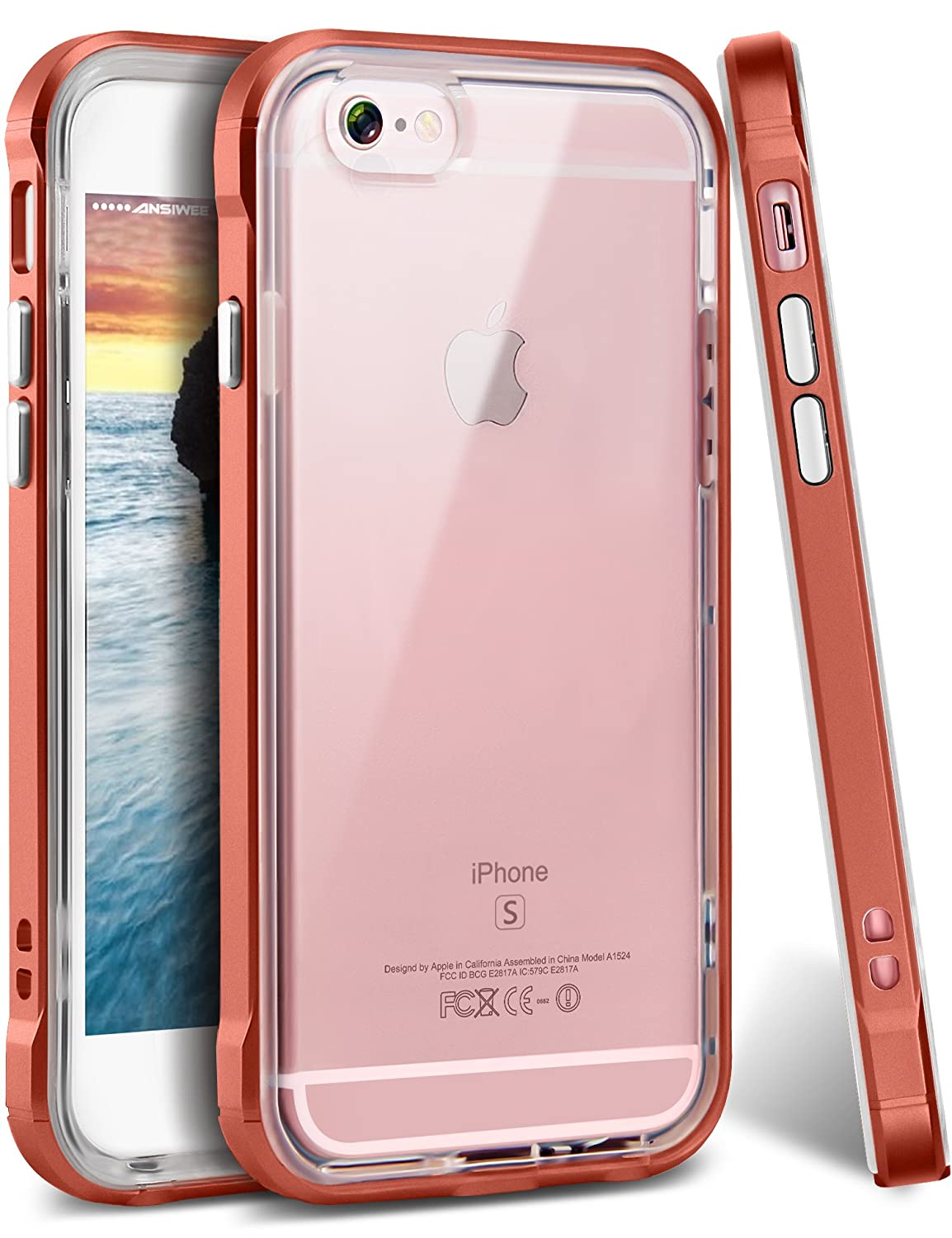 Amazon.com: iPhone 6s Plus Case, Ansiwee Reinforced Frame Crystal ...