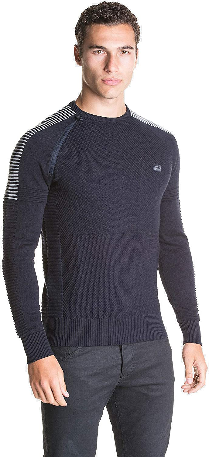 883 Police Mens Champ Crew Neck Long Sleeve Chest Logo Jumper Sweater Knitwear
