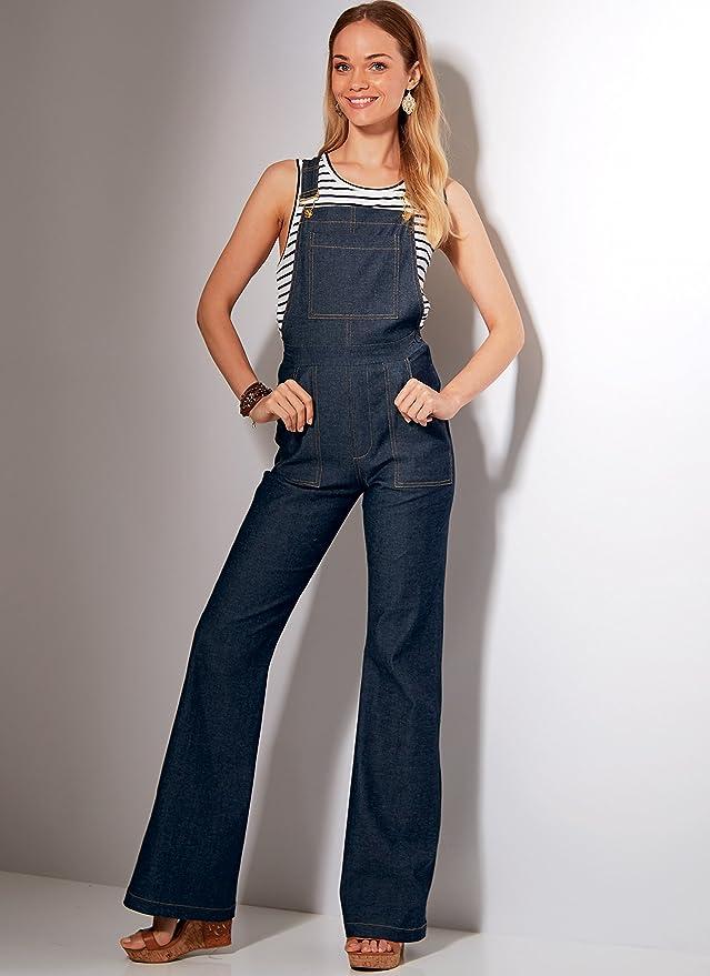 McCall  s Patterns 7547 E5 Misses salopette e jeans a6cdadbb260d