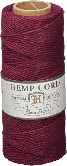 Hemptique HS20CO - BUG - Cordel para jardinería, color Borgoña