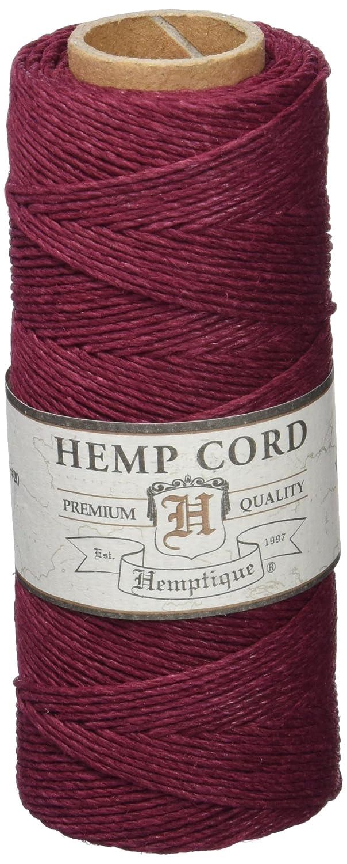 Hemptique Hemp Cord Spool 20lb 205'- Burgundy Notions Marketing 44042
