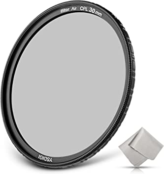 Amazon Com Ysdigi Ultra Slim 30mm Circular Polarizer Filter Cpl Filter With Lens Cloth Multi Coated High Definition Schott B270 Glass Nano Coatings Hd Cpl Filter For Outdoor Photography Camera Photo