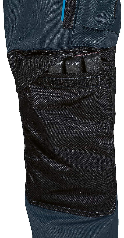 Uvex Tune-up 8909 Pantaloni da Lavoro con Velluto Resistente alle Abrasioni Grigio Nero Blu Molte Tasche Laterali Tasche Cordura Cuscinetti alle Ginocchia Verde