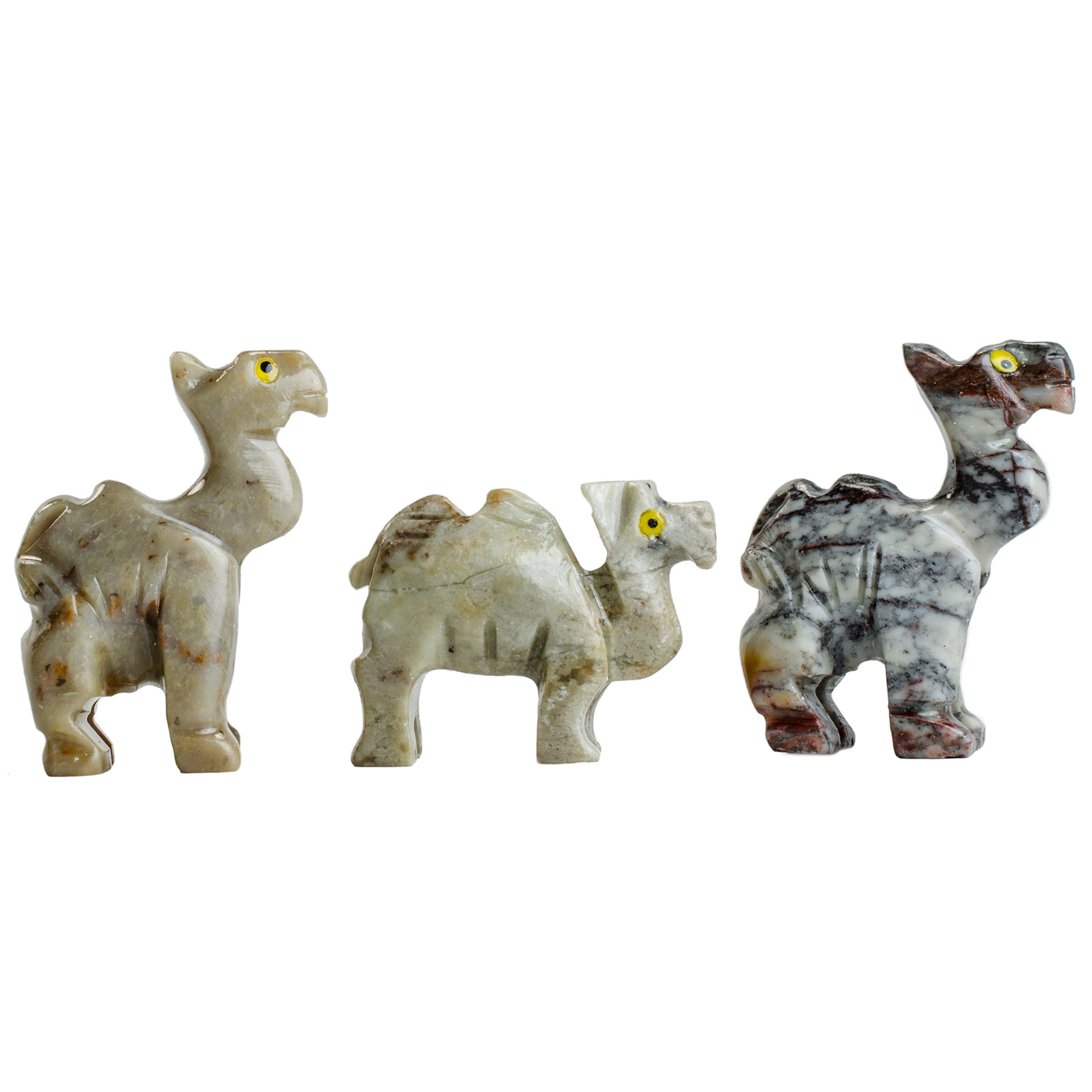 Digging Dolls : 10 pcs Artisan Camel Collectable Animal Figurine - Style 2 - Party Favors, Stocking Stuffers, Gifts, Collecting and More!