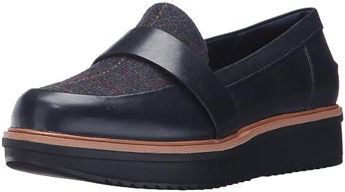 42ed5bdba0d Clarks Women s Teadale Elsa Penny Loafers Blue  Amazon.ca  Shoes ...