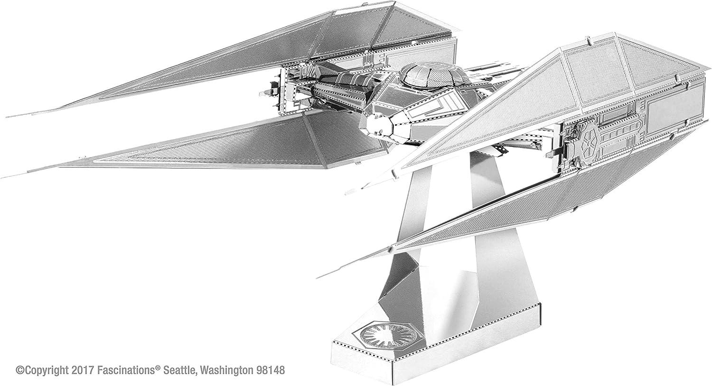 Fascinations Metal Earth - Star Wars El último Jedi - Kylo Ren TIE Silencer 3D Modelo de metal Kit