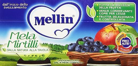 4 opinioni per Mellin- Mela Mirtilli, Omogeneizzato per l'Infanzia, Pacco da 2X100 g, totale: