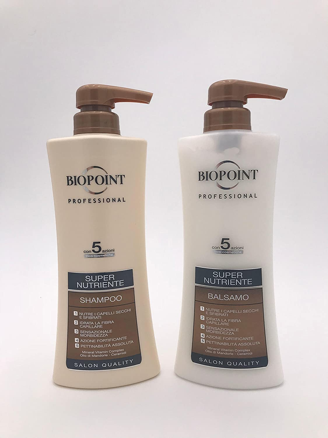 Biopoint Kit pelo super Nutriente Champú 400 ml + Loción 400 ml | Linea Professional Salon Quality para pelo Cubos y sfibrati: Amazon.es: Belleza