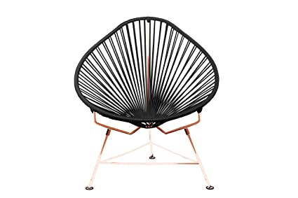 Innit Designs Acapulco Chair, Black Weave On Copper Frame