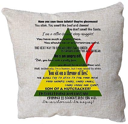 Amazon Christmas Movie Quote Pillowcase Cushion Elf Movie Decor Enchanting Elf Quotes