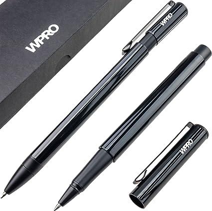 Set Bolígrafo y Roller | lápiz bolígrafo Kuli | metal – personalizable con grabado | estuche – Caja, color negro: Amazon.es: Oficina y papelería