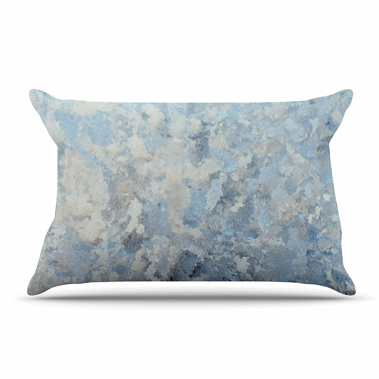 30 x 20 Pillow Sham Kess InHouse Chelsea Victoria Frosted Marble Blue White Photography
