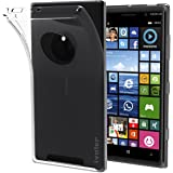 Nokia Lumia 830 Coque, iVoler [Liquid Crystal] Case Coque Housse Etui Ultra Hybrid TPU Silicone,[Extrêmement Mince Souple et Flexible] [Peau Transparente] [Shock-Absorption Bumper et Anti-Scratch Effacer Back] pour Nokia Lumia 830 (Bumper - HD Clair) -Garantie de Remplacement de 18 Mois