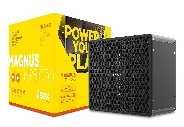Zotac ZBOX Magnus ER51070 3,2 GHz 5 1400 Escritorio Negro - Barebón (AMD Ryzen, 3,2 GHz, 5 1400, 3,4 GHz, SO-DIMM, 32 GB)