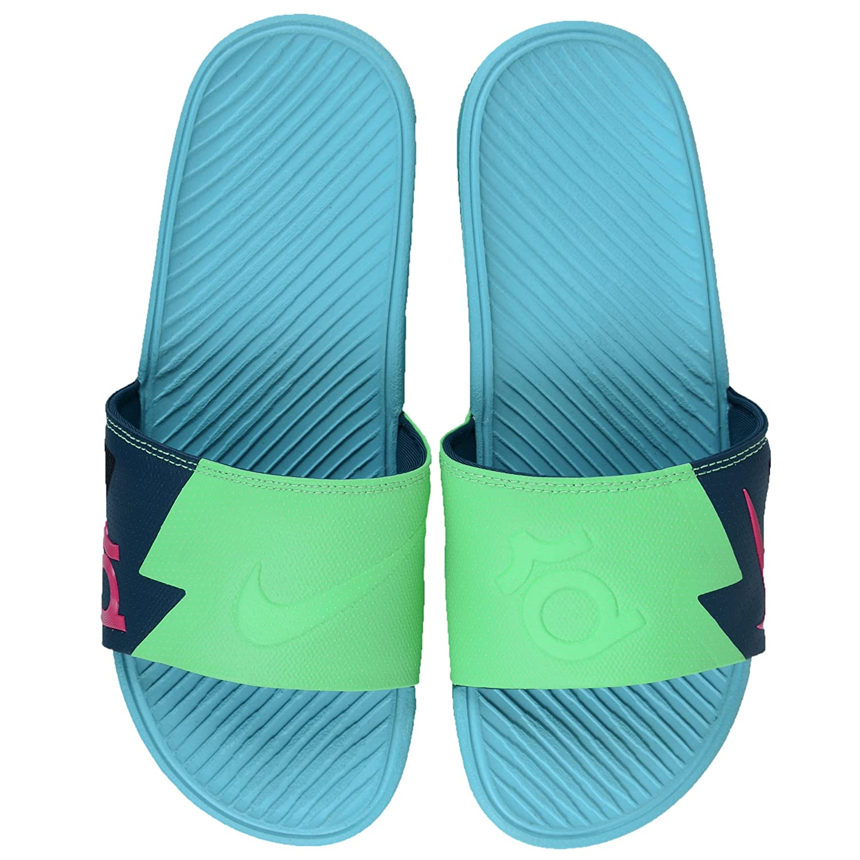 15eb710a2e00 Nike Solarsoft KD Men Slide Sandals Vivid Blue Black Total Orange  631402-480 Nightshade Vivid Pink Light Lucid Green 13 D(M) US  Amazon.in   Shoes   Handbags