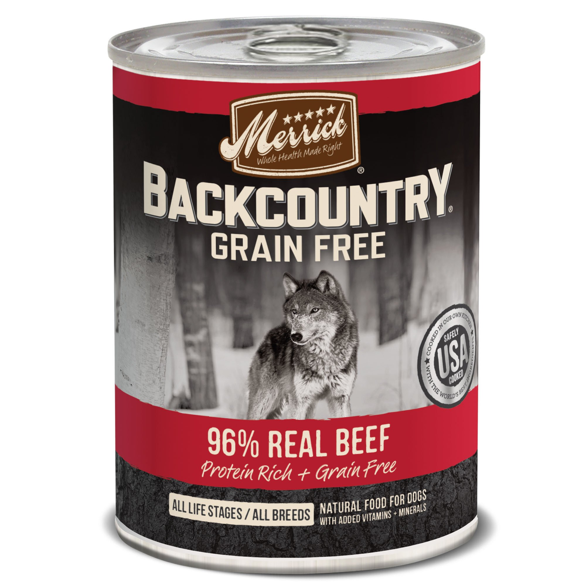 Merrick Backcountry Grain Free 96% - Real Beef Wet Dog Food, Case Of 12, 12.7 Oz. by Merrick