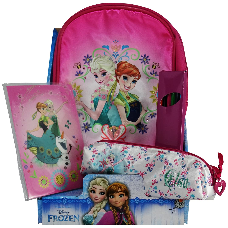Disney Disney Disney Frozen Elsa Anna Kindergarten Kit Rucksack das Schreibetui Buntstiften Malbuch 7cc4d5