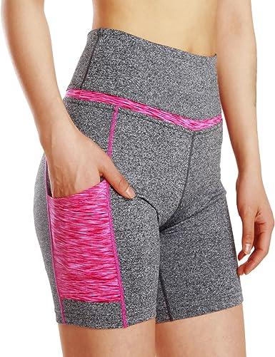 Elonglin Femme Short de Sport Legging Court Pantalon Femme