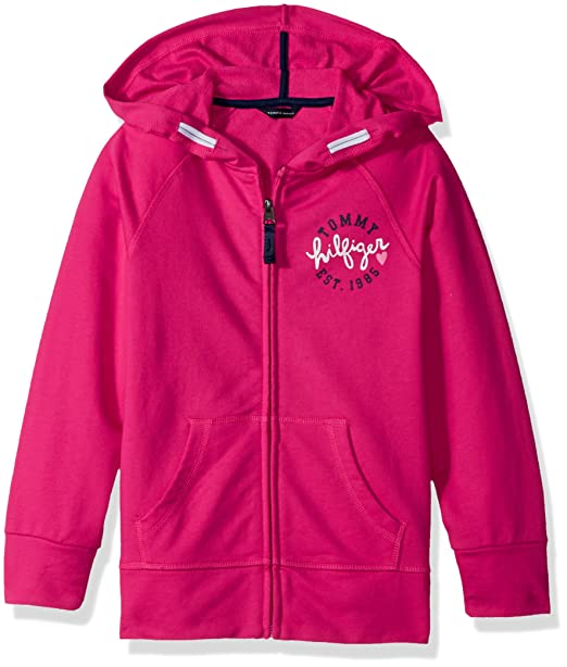 45886492dee Tommy Hilfiger Big Girls' Solid Hoodie, Lollipop, Small: Amazon.ca ...