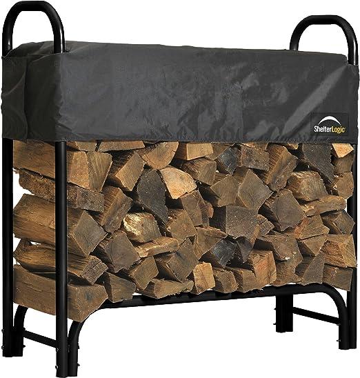 ShelterLogic Adjustable Heavy Duty Outdoor Firewood Rack