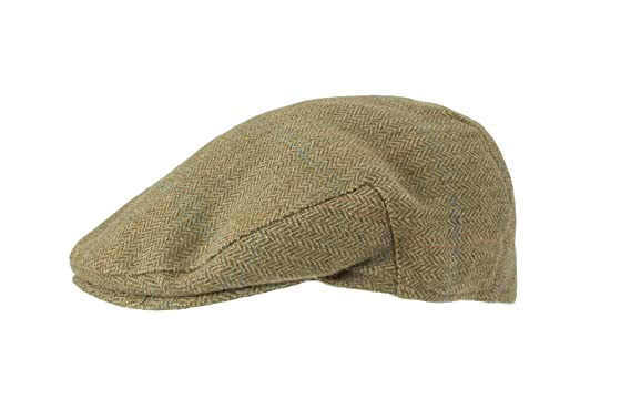 b2fe9f868af Mens Premium Tweed Mix Flat Cap - Country Shooting Hunting Headwear (Sage)   Amazon.co.uk  Clothing