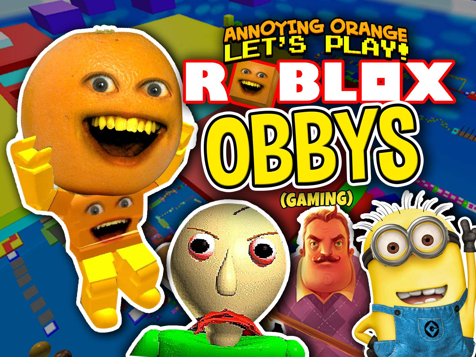 Amazon Com Watch Clip Annoying Orange Plays Roblox Obbys