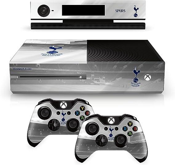 Tottenham Spurs FC Xbox 1 Una almohadilla blanca de mando y la consola de la piel White Hart Lane imagen Estadio escudo del club oficiales de regalos
