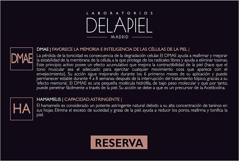 Delapiel Serum Facial Reserva DMAE 5% Activos de refuerzo - Reafirmante - 15 Ampollas