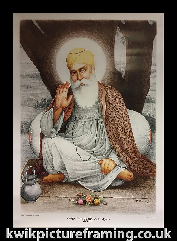 Amazon.de: Große Nanak Dev DEV Ji Poster Bilderrahmen Orignal ...