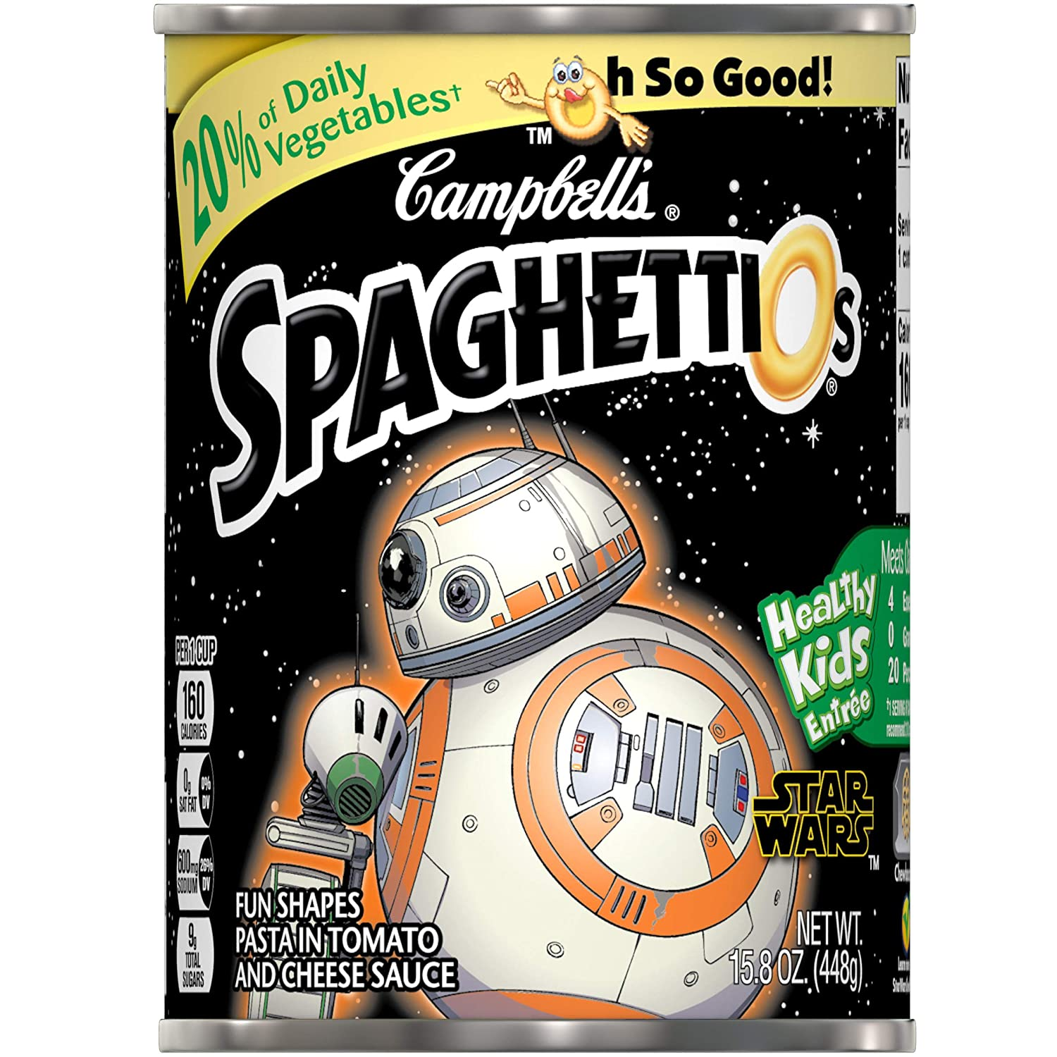 Campbell's SpaghettiOs Star Wars Shaped Pasta, 15.8 oz. Can