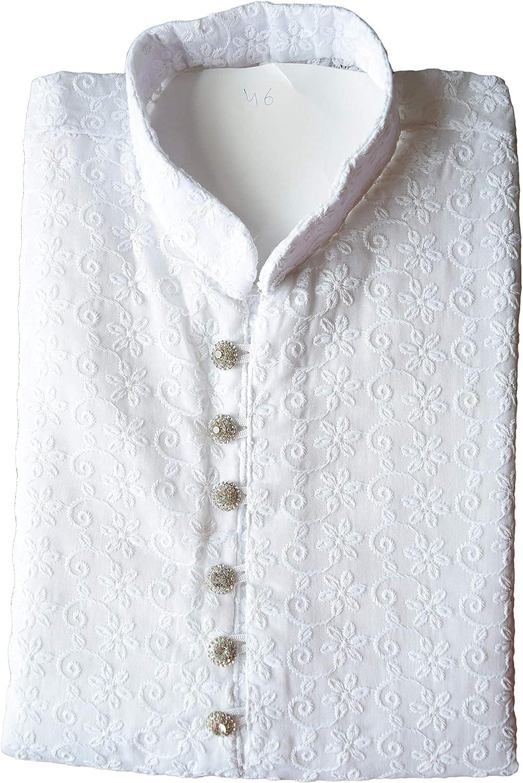 Kacery Mens Indian Cotton Chicken Kurta Pajama Sherwani Traditional Outfit GR2020