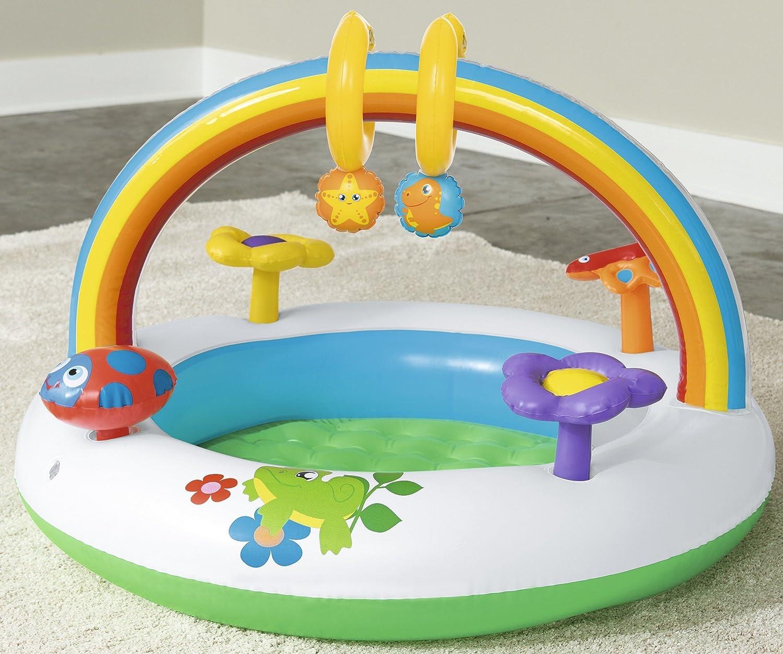 In /& Over Rainbow 91 x 91 x 56 cm Bestway Up aire de jeux gonflable simple /à monter pour les tout-petits