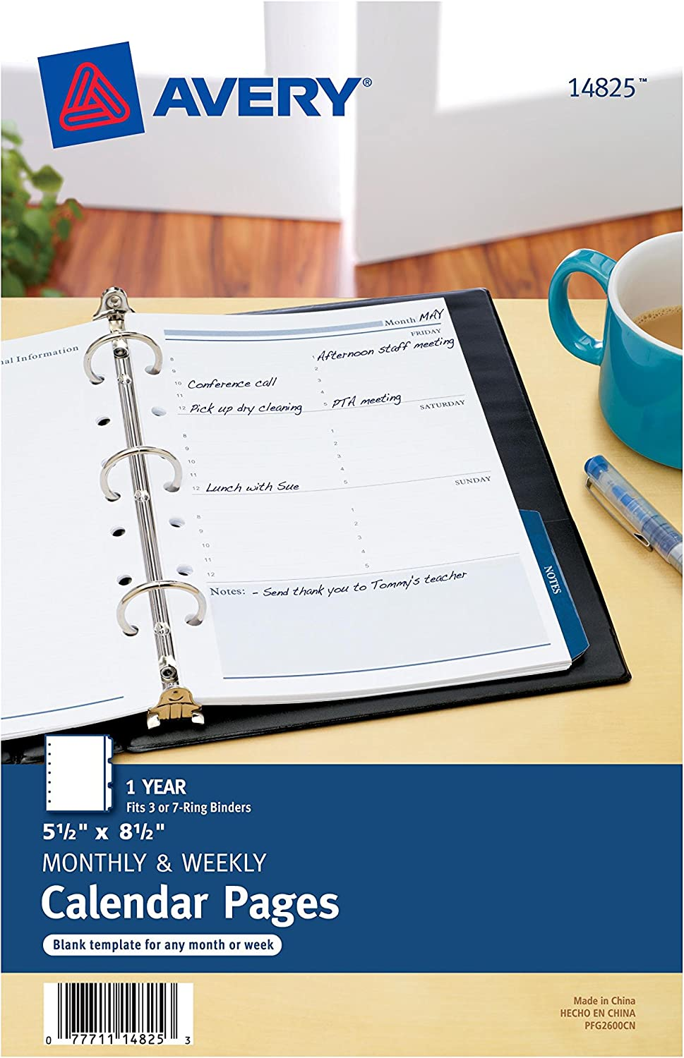 Avery Mini Monthly and Weekly Calendar Pages, 5.5 x8.5 inches (14825)
