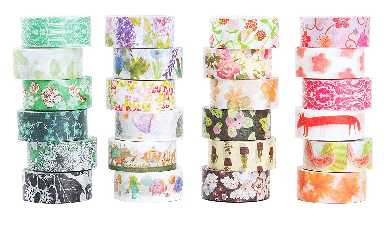 Amazon Washi Masking Tape Set Of 24 Decorative Masking Tape
