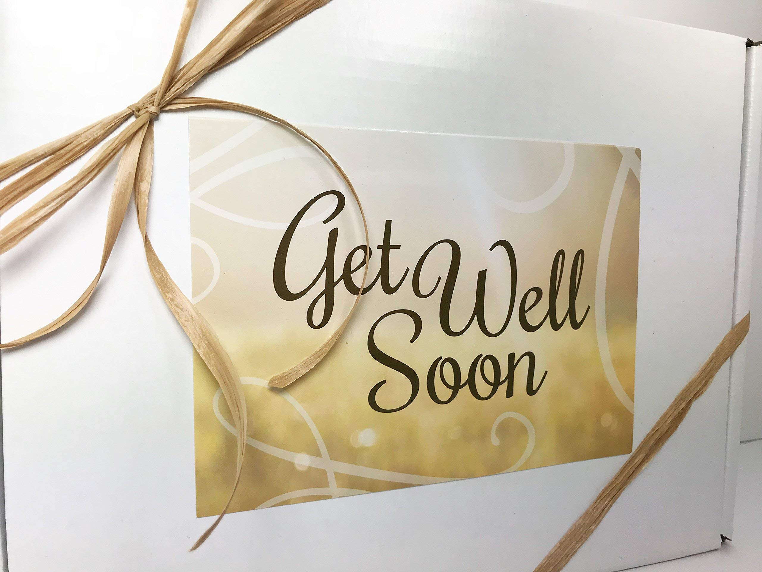 Gourmet Get Well Gift Box Basket - For Cold Flu Illness Surgery Injury- Over 3.5 Pounds of Care, Concern, and Love - Prime Care Package for Men and Women - Send a Smile Today! by Specialty Gift Boxes (Image #3)