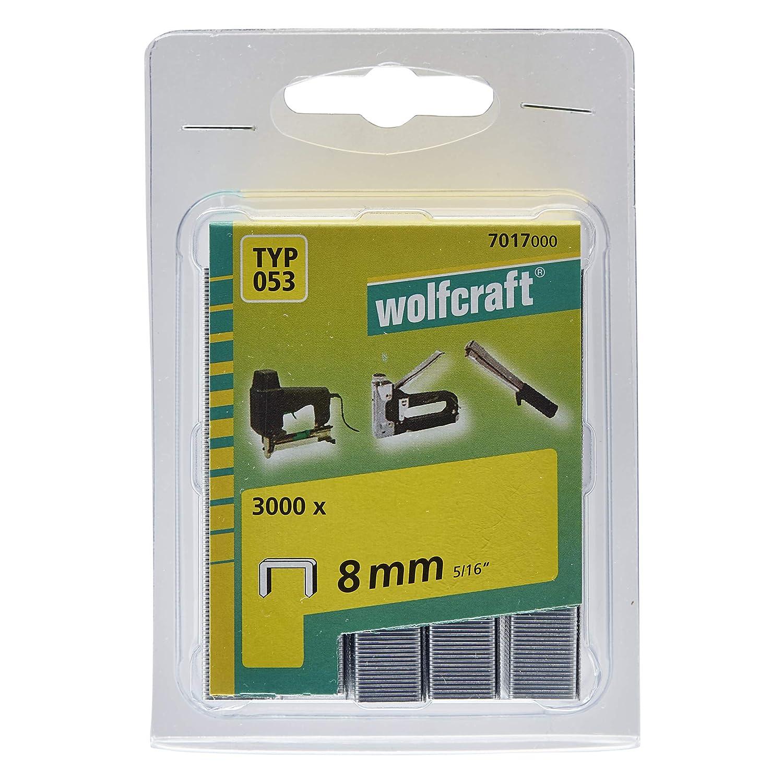 Stahl Typ 53 4 mm 7015000 Wolfcraft 3000 Klammern breit