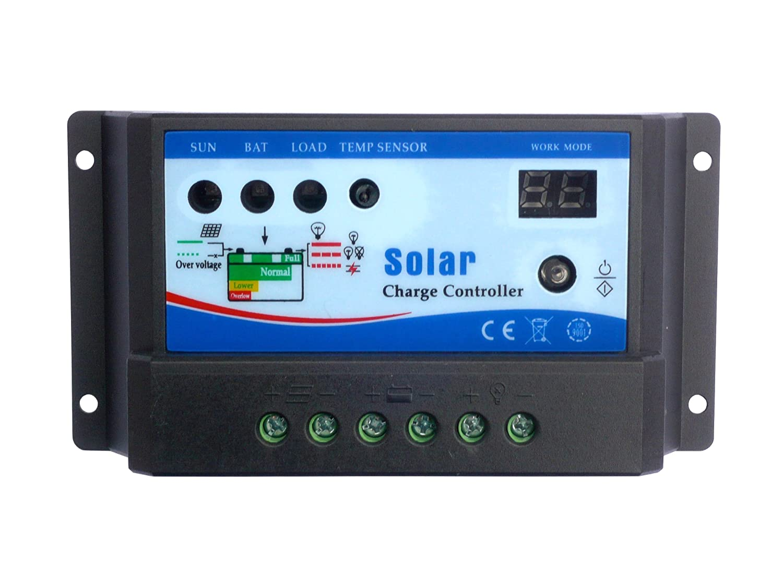 50W 12V Kit Solar con Panel de AKT Solar con controlador de carga de 10A y cables solares de 5m: Amazon.es: Electrónica