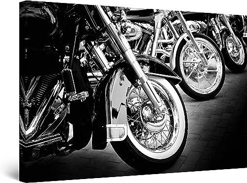 Startonight Canvas Wall Art – Motorcycles, Motor Framed 32 x 48 Inches
