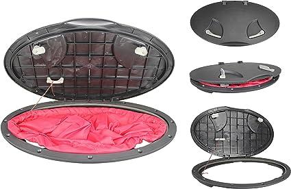 "New 8/"" Deck Plate Boat Kayak Canoe Storage Bag Cover Kit Hatch Jv"