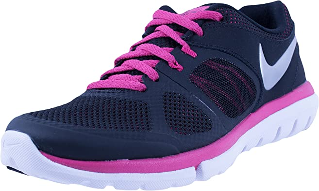 preparar Exagerar esposa  Amazon.com: Nike Flex 2014 RN - Zapatillas de running para mujer, color  negro y blanco: Shoes