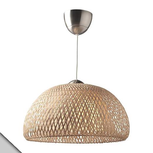 Amazon.com: IKEA – böja lámpara de techo, ratán + E26 foco ...