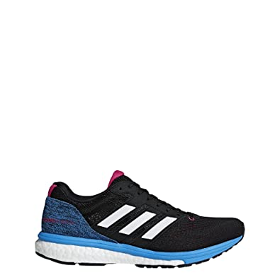 bfbcd4d9b8fa85 adidas Women s Adizero Boston 7 Running Shoes Core Black Cloud White Real  Magenta 7.5