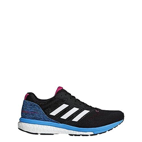 release date 28c66 a1f14 adidas Women s adizero Boston 7 Running Shoes, Core Black Footwear White Real  Magenta