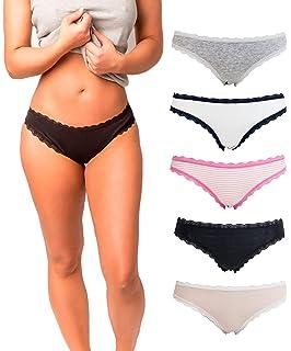ff8fb9f7ac3 Amazon.com: Amazon Brand - Mae Women's Seamless Cheekini Panty, 5 ...